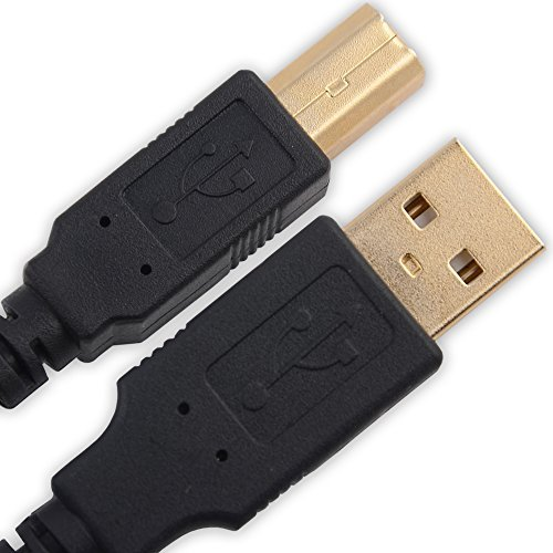 IPAX Hi-Speed USB-Drucker Kabel kompatibel mit für Epson Perfection V550 V850 V370 V300 V600 V39 Scanner Epson Expression Home XP-442 XP-245 XP-342 HP Photosmart 5520 5510 6520 Canon PIXMA iP7250