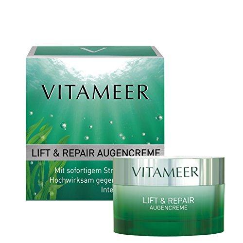 VITAMEER® glättende Augencreme, vegan, mit maritimen Wirkstoffen | wirkt intensiv gegen Augefalten | intensiv hydratisierend | mit optischem Sofort-Lifting-Effekt