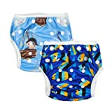 Alva Baby Boys and Girls Swim Diapers 2pcs Pack One Size Reuseable Adjustable 0-24 mo.SW03-04