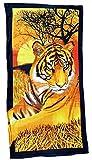 Toalla de playa 70x 140cm, toalla de mano Diseño de Tigre, toalla 100% algodón microfibra