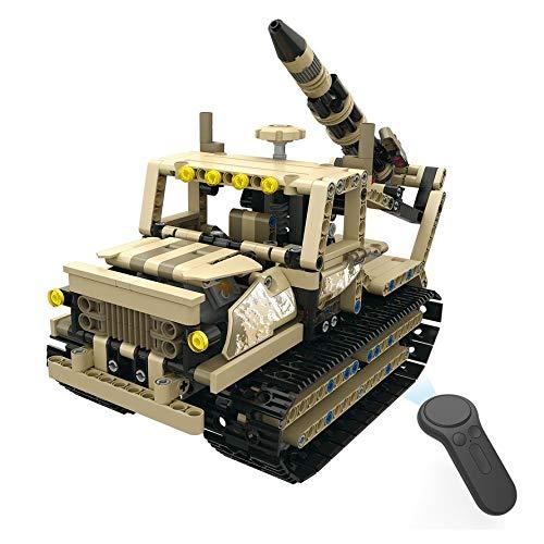 HoganeyVan MoFun-13012 2.4G 4H Blocco di Ricarica USB Caterpillar Armed Rocket Launcher 608pcs DIY RC Auto elettrica per Bamb