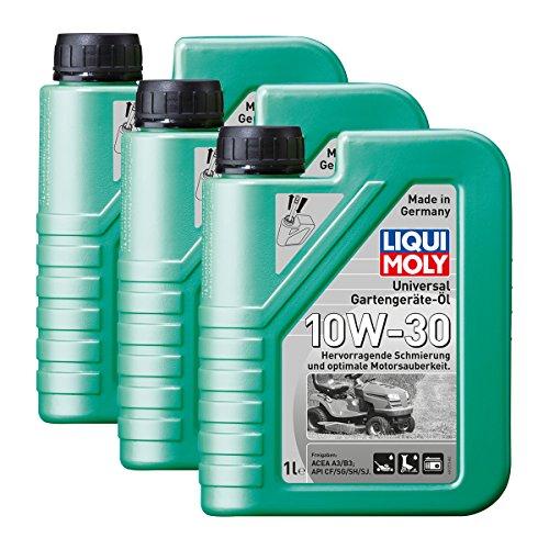 3x LIQUI MOLY 1273 Universal Gartengeräte-Öl 10W-30 4-Takt 1L