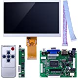 Kuman 7 inch LCD panel 1024x600 Screen Display TFT High Resolution Monitor EJ070NA-01J with Remote Driver Control Board 2AV HDMI VGA for Raspberry Pi 3 2 Model B Rpi B+ B A SC7I