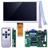Kuman 7 inch LCD panel 1024x600 Screen Display TFT High Resolution Monitor EJ070NA-01J with Remote Driver Control Board 2AV HDMI VGA for Raspberry Pi 3 2 Model B Rpi B+ B A SC7I