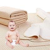 4 Lagen Wasserdicht Atmungsaktiv Inkontinenzauflage Bettunterlage für Baby Kinder Erwachsene Dry Night Matratzenauflage (70 * 120cm)