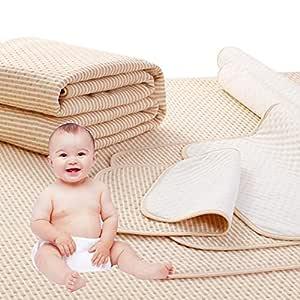 LvLoFit 4 Lagen Wasserdicht Atmungsaktiv Inkontinenzauflage Bettunterlage für Baby Kinder Erwachsene Dry Night Matratzenauflage (60 * 100cm)