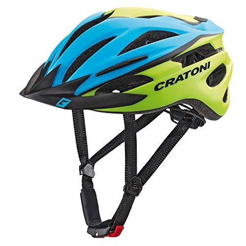 Cratoni Pacer Fahrradhelm, Blue/Lime Matt, S-M