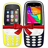 I KALL K3310 (Yellow) And K35(Dark Blue) Combo Of Dual Sim Mobile With 101 Days Replacement Warranty With 1 Year Manufacturer Warranty
