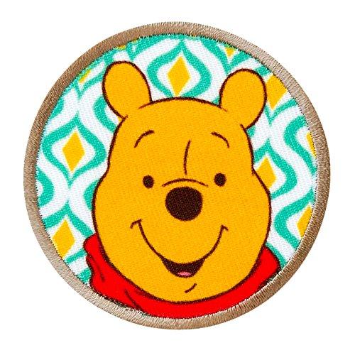 WINNIE THE POOH - Winnie Button - Aufnäher Aufbügler Applikation Patch - ca. 6 cm -