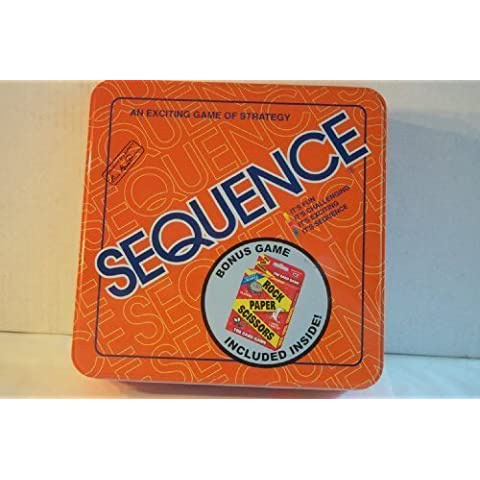 Sequence Tin Board Game 2005 with BONUS GAME by Jax Ltd