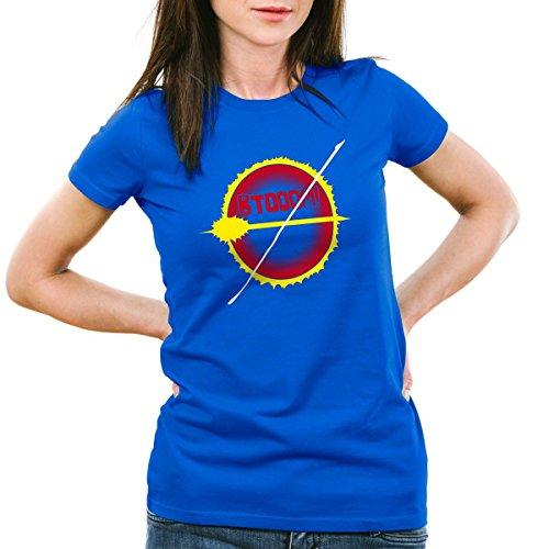 CottonCloud BTOOOM! Esplosione T-Shirt da donna manga anime, Colore:blu;Dimensione:2XL
