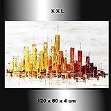 Stadt Skyline City handgemalt abstrakt Kunst Bild Zenic XXL