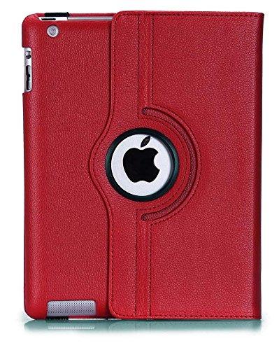 Preisvergleich Produktbild New Rot PU Leder 360° rotierender Ständer Schutzhülle für iPad Pro 12,9