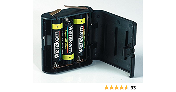 4 5v Flachbatterie Im Gehäuse Wechselgehäuse 3lr6 Inkl 3 Mignon Aa Batterien Elektronik