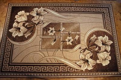 Teppich für Wohnzimmer mit  Beige, Seidenglanz, Muster