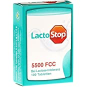 2x LactoStop 5500FCC Klickspender / bei Lactose-Intoleranz/ je 100 Tabletten/ PZN 10130689