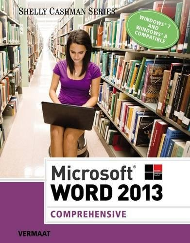 Microsoft® Word 2013: Comprehensive (Shelly Cashman)