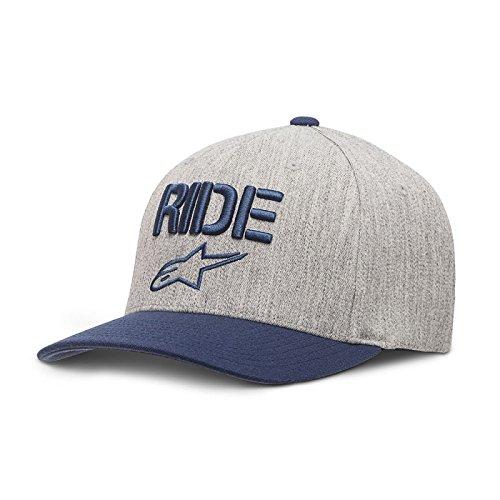 Alpinestars Herren Cap RIDE Men's Logo Flexfit Hat Curved Bill Flex Back, blau, L/XL, 1017-81008 (Bill-logo-cap)