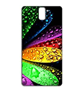 Happoz Colours in water effect Oneplus One back case Mobile Phone Back Panel Printed Fancy Pouches Accessories Z271