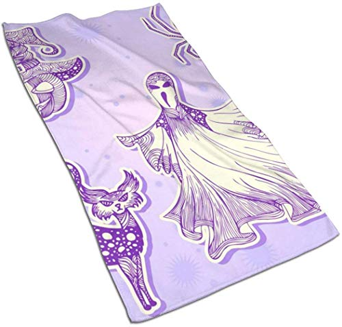 Osmykqe Stickers for Halloween Part Kitchen Towels-Dish Cloth-Machine Washable Cotton Kitchen Dishcloths,Dish Towel & Tea Towels for Drying,Cleaning,Cooking,Baking (16x27.5 Inch)