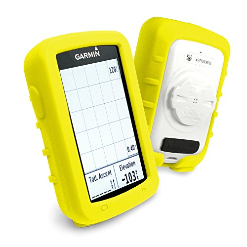 tuff-luv-silicone-gel-skin-case-and-screen-cover-for-garmin-edge-explore-820-yellow