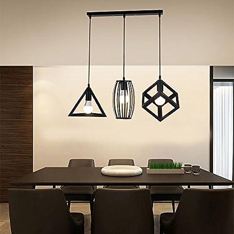 Salon de la personnalité créative éclairage restaurant simple bar magasin lumière chandelier ( Couleur : 1 )