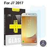 [2 Pacchi] Samsung Galaxy J7 2017 Pellicola Protettiva,Vetro Temperato Protezione Schermo Durezza Ultra Resistente Ultra sottile (0,26 mm HD Alta trasparente)