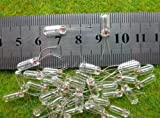 100x Grain of Wheat 4mm Clear 12V Miniature Bulbs MP01W