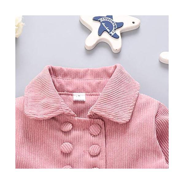 Abrigo de bebé | Chaqueta Abrigada de Manga Larga de Invierno para bebés y niñas pequeñas Abrigos Gruesos de Abrigo 0-24… 5