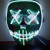 CompraFun Máscara LED Halloween, Máscara Disfraz Luminosa Craneo Esqueleto, para Navidad Halloween...