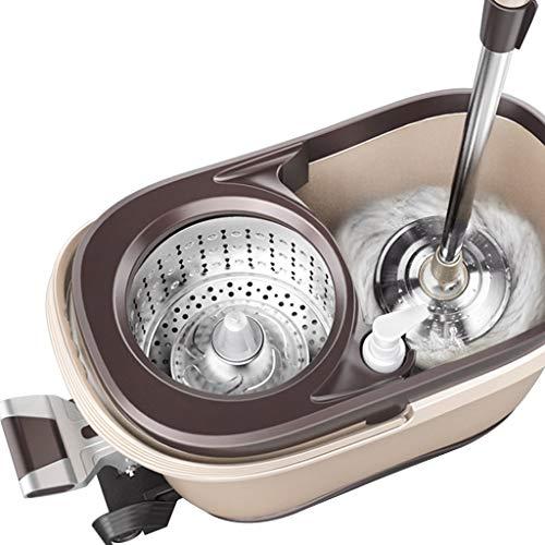 Wischmopps Mopp-Drehrohr mit Vier Antrieben Mopp-Eimer Handfreies Wischen Automatisches Trocknen des Mopp-Eimers Trocken- und Nassreinigungswerkzeug (Color : Beige, Size : 50 * 29 * 28cm)