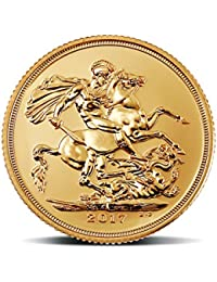 """MMTC-PAMP India Pvt. Ltd. Sovereign, aka """"Guinea"""" 22k (916.7) purity 7.98805 gm Gold  Coin"""