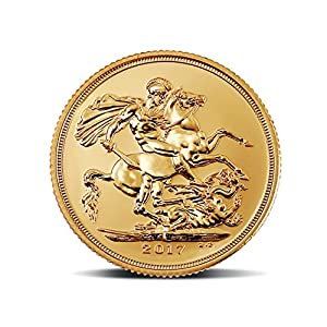 "MMTC-PAMP India Pvt. Ltd. Sovereign, aka ""Guinea"" 22k (916.7) purity 7.98805 gm Gold Coin"