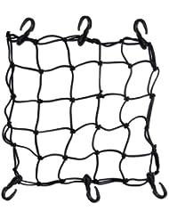 ma-on Premium para moto bicicleta cuerda elástica red de carga (negro)