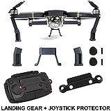 Fstop Labs DJI Mavic Pro Landing Gear Leg Height Extender Kit Riser Set Stabilizers with Protection Pad (Grey)
