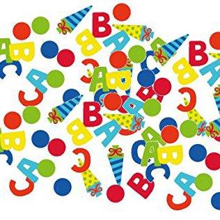 1. Schultag - Dekoset Einschulung - Servietten, Luftballons & Konfetti ABC - 5