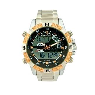 Oskar Emil Ranger RG – Reloj para Hombre, Correa de Acero Inoxidable Color Plateado