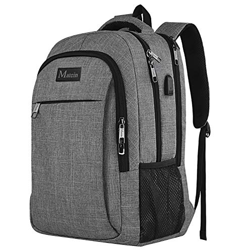 Travel Laptop Backpack, Professional Business Backpack Bag with USB  Charging Port, Slim Lightweight Laptop Bag, Water Resistant School Rucksack  for