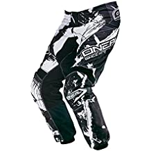 O 'Neal Element MX Pantalón Shocker Blanco y Negro Motocross Enduro Offroad, 0124 – 6, hombre, 42
