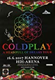 TheConcertPoster Coldplay - Head Full of Dreams, Hannover