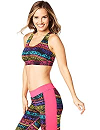 Zumba Fitness® Let 's Escape Scoop Bra Mujer Tops, Mujer, Let's Escape Scoop Bra, Shocking Pink, Small