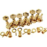 IKN 6R Golden Electric Guitar Tuning Pegs Metal Tuners Machine Heads