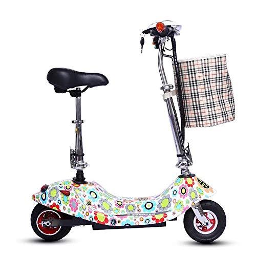 PNCS Elektroscooter Niedlichen Stil Doppelrad Booster Mini Reise Faltbare Outdoor-Reise Jungen und Mädchen Geschenke (10009010)