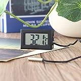 FairytaleMM TL8009 Mini Thermomètre LCD Numérique pour Réfrigérateur Réfrigérateur Congélateur Température -50~110 ° C Noir Intérieur Cuisine Métasure