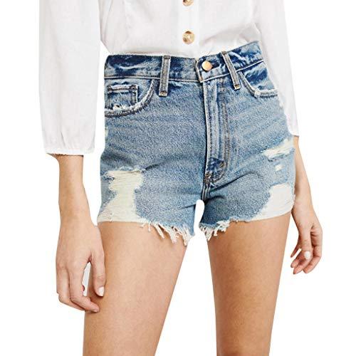Proumy Frauen Mittleres Verband Heiße Taillen Loch Jeans Dünner Hosen Kurzschluss Denim 2019 heißer (XL, Blue 2) - 10 Süße Jeans Unter Dollar