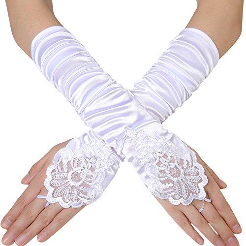 BABEYOND Damen Handschuhe Satin Classic Opera Fest Party -