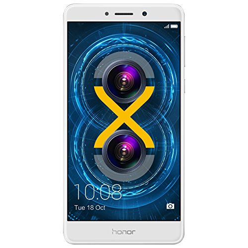 Honor 6X Smartphone (5,5 Zoll (14 cm) Touch-Display, 32 GB interner Speicher, Android 6.0) silber