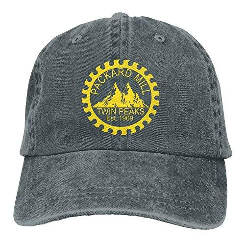 Zcfhike Männer & Frauen gewaschen Retro verstellbare Jeans Caps Baseballmütze - Twin Peaks Packard Mill Design11
