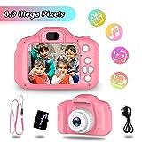 Spielzeuge für 3-6 Jahre Mädchen YORKOO Kinder Kamera HD 1080P Digitalkamera für Kinder Fotoapparat Kinderkamera Videokamera Silikon Kindergeschenke Rosa