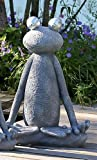 Casablanca Skulptur Figur Dekoobjekt - Frosch - Magnesia - Farbe: Grau/Silber - Höhe: 80 cm